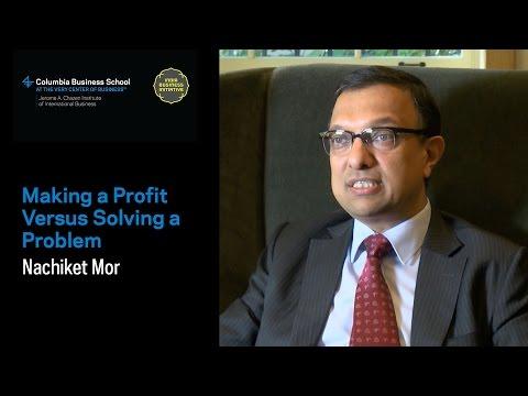 Making a Profit Versus Solving a Problem