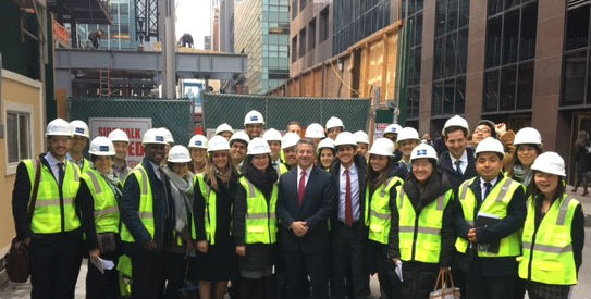 REA Students and SL Green CEO Marc Holliday at the 1 Vanderbilt site