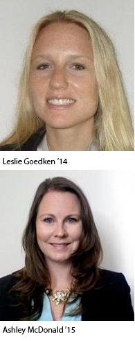 Photo: Leslie Goedken '14 and Ashley McDonald '15.