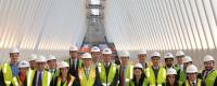 Photo: REA students inside the main cculus of the new transportation hub at the WTC.