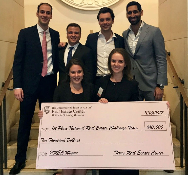 REA Students at the UT Austin Case Competition