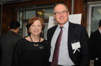 Photo: Prof. Lynne Sagalyn and Distinguished Real Estate Partner Hugh Frater '85.