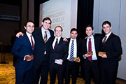 Photo of Team CBS (pictured from left to right): Hoeland '13, Cohen '13, Nutt '13, Shivashankara '14, Myerson '14, and Bartley '14.
