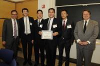 Photo: Spring 2011 Alexander Bodini Foundation Prize winning team and Daniele Bodini '72.