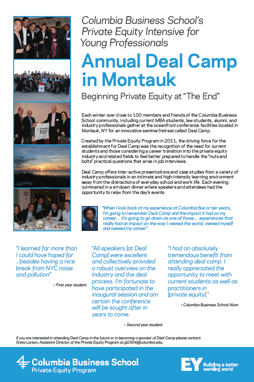 Annual Deal Camp in Montauk, Beginning Private Equity at 'The End'