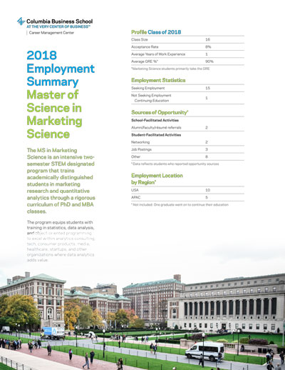 MS in Marketing Science Brochure
