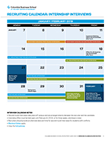Internship Interview Calendar