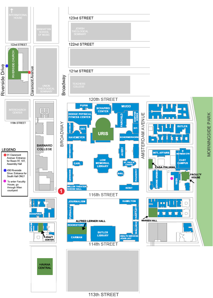 Morningside College Campus Map.Map Recruiting Columbia Business School Students