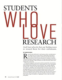 Students who love research