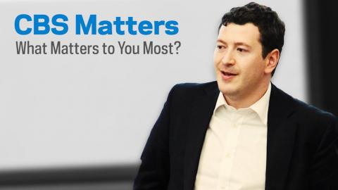 Embedded thumbnail for CBS Matters: What Matters to You Most?
