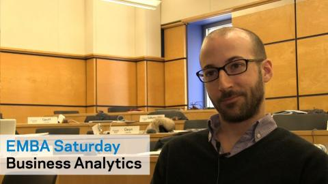 Embedded thumbnail for EMBA Saturday: The Power of Business Analytics