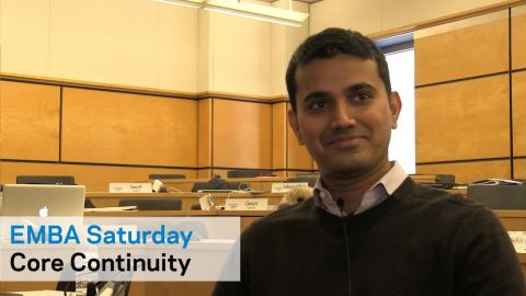Embedded thumbnail for EMBA Saturday: Continuity Across Core Courses