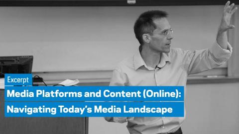 Embedded thumbnail for Media Platforms and Content (Online) Program: Excerpt