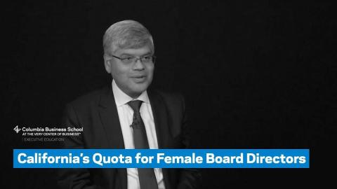 Embedded thumbnail for California's Quota for Female Board Directors