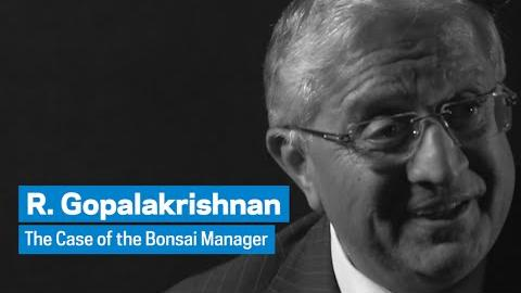 Embedded thumbnail for R. Gopalakrishnan: The Case of the Bonsai Manager