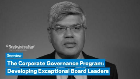 Embedded thumbnail for The Corporate Governance Program: Overview
