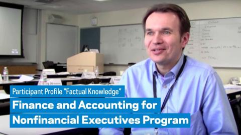 "Embedded thumbnail for Finance and Accounting for the Nonfinancial Executive: Participant Profile ""Factual Knowledge"""
