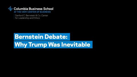 Embedded thumbnail for Bernstein Debate: Why Trump Was Inevitable – Professor Howard Rosenthal