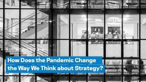 Embedded thumbnail for How Does the Pandemic Change the Way We Think about Strategy?