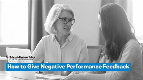 Embedded thumbnail for How to Give Negative Performance Feedback