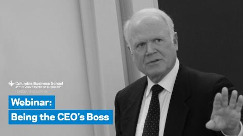 Embedded thumbnail for Being the CEO's Boss