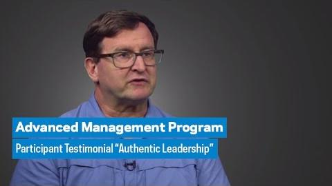"Embedded thumbnail for Advanced Management Program: Participant Testimonial ""Authentic Leadership"""