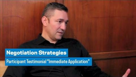 """Embedded thumbnail for Negotiation Strategies: Participant Testimonial """"Immediate Application"""""""