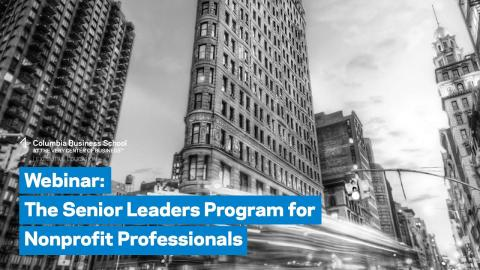 Embedded thumbnail for The Senior Leaders Program for Nonprofit Professionals