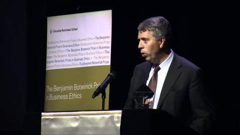 Embedded thumbnail for 2010 Botwinick Prize in Business Ethics Keynote: Peter Blom