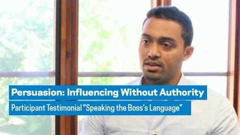 "Embedded thumbnail for Persuasion: Participant Profile ""Speaking the Boss's Language"""