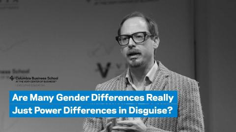 Embedded thumbnail for Are Many Gender Differences Really Just Power Differences in Disguise?