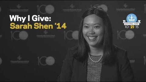 Embedded thumbnail for Why I Give: Sarah Shen '14