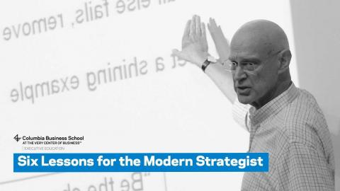Embedded thumbnail for Six Lessons for the Modern Strategist