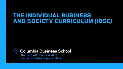 Embedded thumbnail for The Individual Business and Society Curriculum (IBSC)