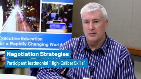 """Embedded thumbnail for Negotiation Strategies: Participant Testimonial """"High-Caliber Skills"""""""