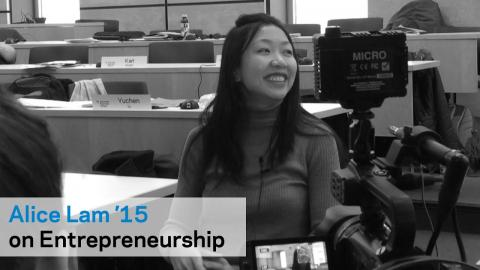 Embedded thumbnail for Alice Lam '15 on Columbia's Entrepreneurial Community