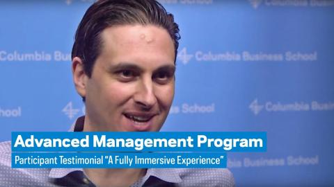 """Embedded thumbnail for Advanced Management Program: Participant Testimonial """"A Fully Immersive Experience"""""""