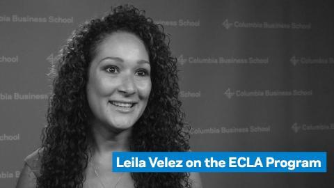 Embedded thumbnail for Leila Velez on the ECLA Program