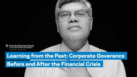 Embedded thumbnail for Learning from the Past: Corporate Governance Before and After the Financial Crisis
