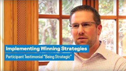 """Embedded thumbnail for Implementing Winning Strategy: Participant Testimonial """"Being Strategic"""""""