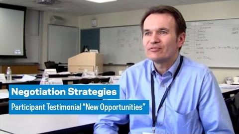 """Embedded thumbnail for Negotiation Strategies: Participant Testimonial """"New Opportunities"""""""