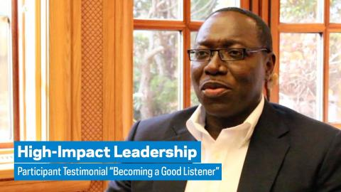 """Embedded thumbnail for High-Impact Leadership: Participant Testimonial """"Becoming a Good Listener"""""""