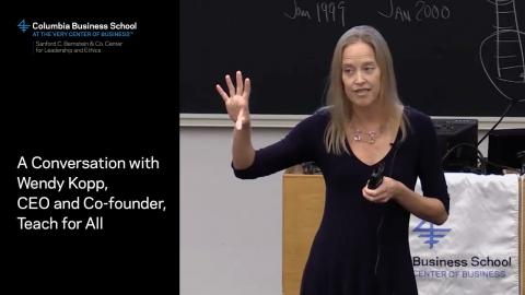 Embedded thumbnail for A Conversation with Wendy Kopp, CEO and Co-founder, Teach for All