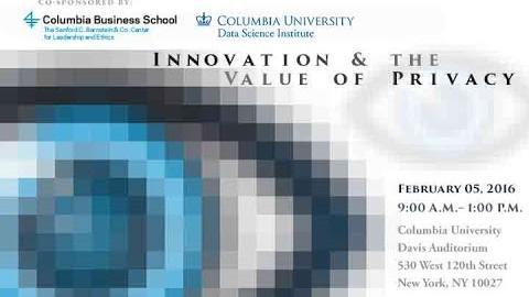 Embedded thumbnail for Innovation and the Value of Privacy: Research Insights – Arvind Narayanan