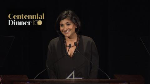 Embedded thumbnail for Shazi Visram '04 Accepts the Distinguished Early Achievement Award
