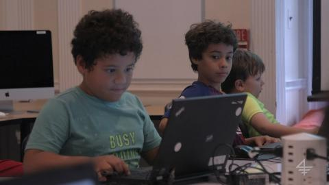 Embedded thumbnail for CodeAdvantage teaches kids a new language—coding