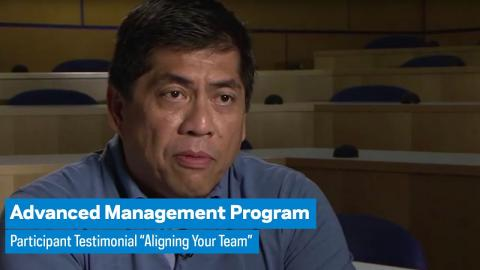 """Embedded thumbnail for Advanced Management Program: Participant Testimonial """"Aligning Your Team"""""""