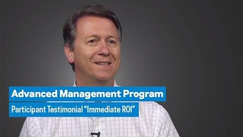 "Embedded thumbnail for Advanced Management Program: Participant Testimonial ""Immediate ROI"""