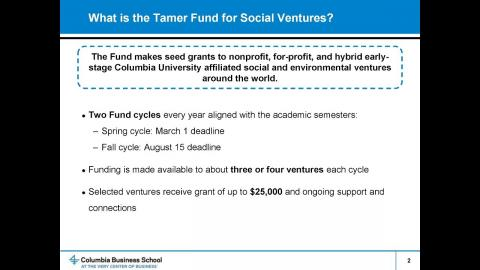 Embedded thumbnail for What to Consider Before Applying to the Tamer Fund for Social Ventures