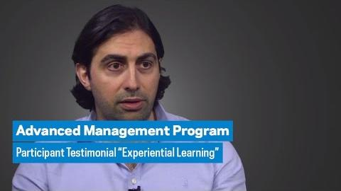 "Embedded thumbnail for Advanced Management Program: Participant Testimonial ""Experiential Learning"""